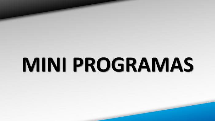 Mini Programas